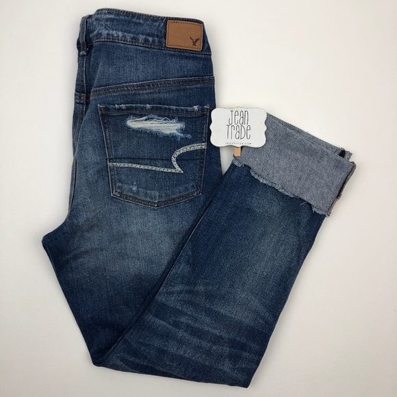 American Eagle Outfitters Denim - American Eagle Tomgirl Distressed Jeans